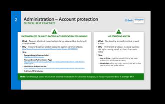 Passwordless or MFA for admins