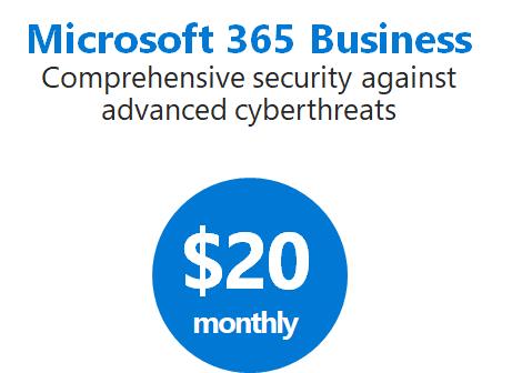 Microsoft 365 Business cost